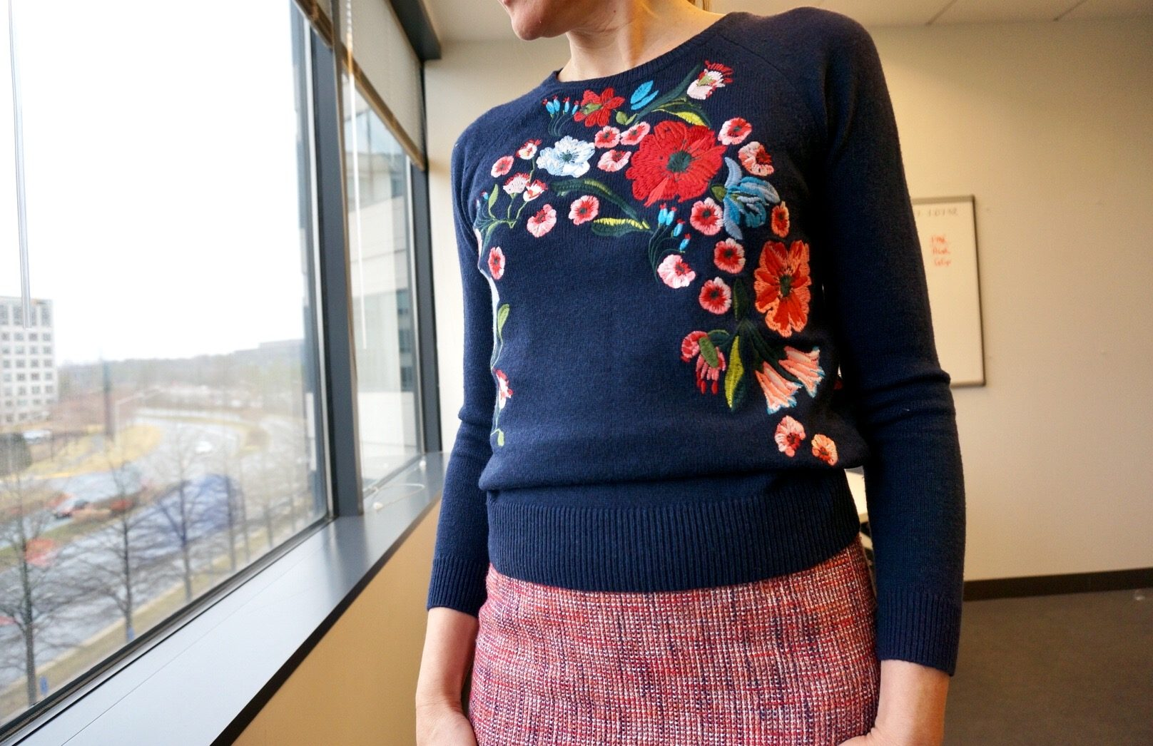 My 9 to 5 Shoes my9to5shoes.com LOFT Bouquet Sweater