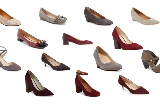 Grey and Burgundy Shoes for Fall
