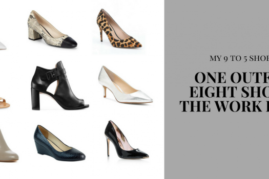 One Outfit, Eight Shoes: The Work Edit