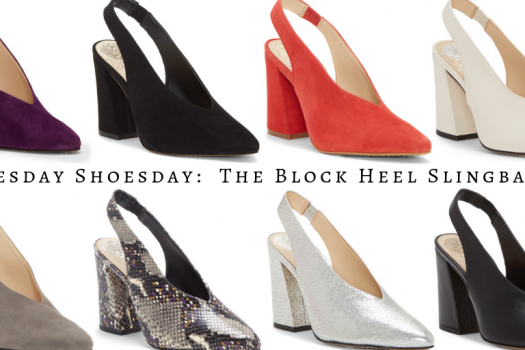 Tuesday Shoesday:  The Block Heel Slingback