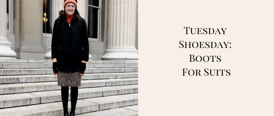 Tuesday Shoesday:  Snow (and Rain) Boots for Suits