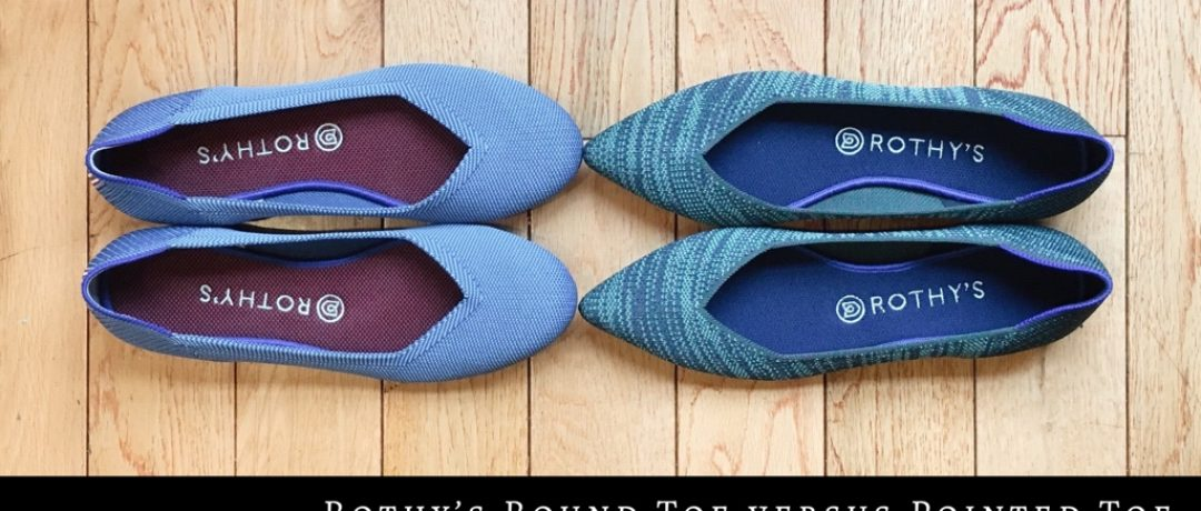 Rothy's Round Toe Versus Pointed Toe