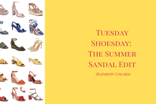 Tuesday Shoesday:  The Colorful Sandal Edit